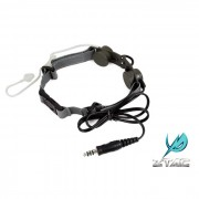 Гарнитура Ларингофон Tactical Throat MIC Black Z033