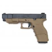 Страйкбольный пистолет (WE) GLOCK 26C Advance Semi/Auto (TAN) (GGB-0368TTA)