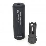Глушитель (B&C) 117мм x 35мм ACC с пламегасителем (Black)