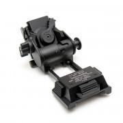 Крепление (WADSN) на шлем переходник для ПНВ Wilcox 3 L4G24 алюминий/пластик (Black)