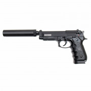 Страйкбольный пистолет (KJW) M9A1 металл CO2 KP9A1 W/SILENCER (GC-9606A1 W/SL)