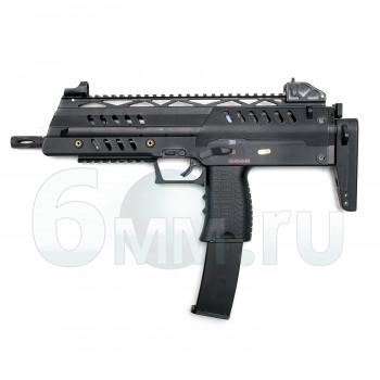 Страйкбольный пистолет-пулемет (WE) M009-SMG8-BK STYLE GAS BLOWBACK RIFLE/OPEN BOLT (GR-0123B)