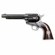Страйкбольный пистолет (Umarex) SAA 45 CO2 GK Custom 6mm Revolver Cowboy Police Versio (GK058) Black