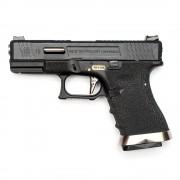 Страйкбольный пистолет (WE) GLOCK 19 Custom Black/Black/Silver (GGB-0382TM-BS)