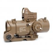 Прицел оптический Elcan-8 SpecterDR 4х + коллиматор Docter (TAN)