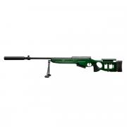 Страйкбольная винтовка (RAPTOR) СВ-98 (SV-98) (Глушитель + Сошки)