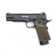 Страйкбольный пистолет (KJW) Hi-Capa металл KP-05 CO2 Olive (GC-0339-OD)
