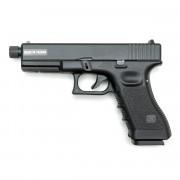 Страйкбольный пистолет (KJW) GLOCK 17 CO2 GBB металл KP-17 (GC-0505-TBC)