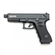 Страйкбольный пистолет (KJW) GLOCK 18 GBB металл Black (GGB-0509SM-TBC)