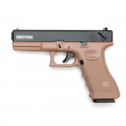Страйкбольный пистолет (KJW) GLOCK 18 CO2 GBB металл TAN (GC-0509-TAN)