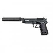 Страйкбольный пистолет (KJW) M9A1 металл с глушителем Black (GGB-9606TMA1 W/SL)