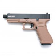 Страйкбольный пистолет (KJW) GLOCK 17 CO2 металл KP-17 CO2 TBC TAN